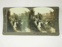 Antique Stereoview Card. Keystone. 18676 How France Aided Her Fighters