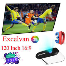 120'' 16:9 Portable Projector Projection Screens HD1080p Home, Outdoor Cinema UK
