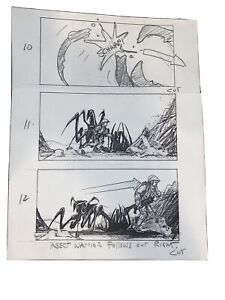 Starship Troopers ORIGINAL storyboard illustration art. Verhoeven