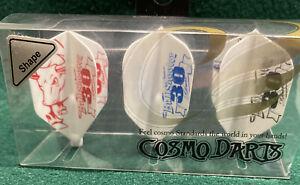 Cosmo Bullshooter 30 Pack Of Three Dart Flights New in Package for Dart Game