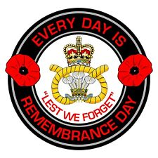 Staffordshire Regiment Remembrance Day Inside Car Window Clear Cling Sticker