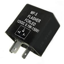 Flasher Relay 12V Black 3 Pins For Motor Cycle Bike LED Indicators Bulb 150W