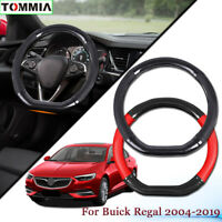 Car Styling Carbon Fiber Leather Car Steering Wheel Cover For Buick Regal 2004+