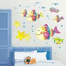 Bubble Fish Star Fish SEA Wall Stickers Girls/Boys Bedroom NuseryBathroom Decor