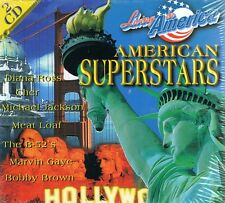 American Superstars - 2 CD NUOVO James Brown Barry White Marvin Gaye Meat Loaf