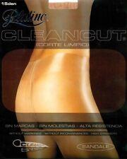 Platino Clean Cut Glossy 15 Den STW Tights Pantyhose - Large - Dark Tan (Hawaii)