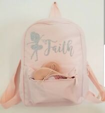 Personalised Ballet Bag girls mini Back pack Tap Jazz shoes Holdall ballerina