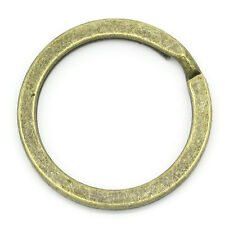 5 Large Bronze Double Loops Split Rings Open Jump Rings 25mm key ring fin0341