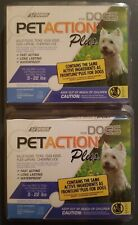 New listing (2) Pet Action Plus for Dogs 5-22 lbs = 6 Doses Total. Kills Fleas, Ticks+