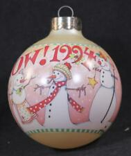 "Dated 1994 Hallmark Mary Engelbreit ""Let It Snow"" Keepsake Ornament In Box.Usa"