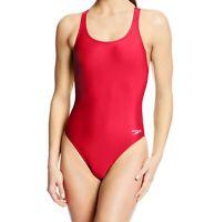 Speedo Womens Swimwear Red Size 10 /36 Performance Super Pro LT Swimsuit $39 005