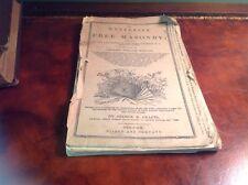 1850's The Mysteries Of Free Masonry Freemasonry Masonic By George Crafts Rare