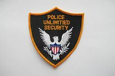 POLICE UNLIMITIED SECURITY EMBROIDERY APPLIQUE PATCH