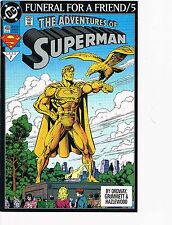 The Adventures of Superman # 499  VF 8.0  Funeral For A Friend