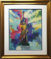 "LeRoy Neiman ""Statue of Liberty"" New CUSTOM FRAMED Art Lithograph NYC Lady York"