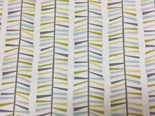 Fryetts MALMO TEAL 100% Cotton Fabric for Curtain/ Upholstery/Crafts
