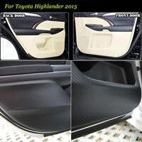 Carbon Fiber Door Side Anti-kick Protection Sticker Trim For Toyota Kluger 2015