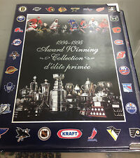 1994 94-95 Kraft Award Winning Hockey complete set in album w/Gretzky, Brodeur
