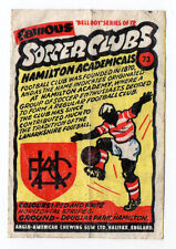 Anglo-American Gum Bell Boy wax wrapper Famous Soccer Clubs #73 Hamilton Accies