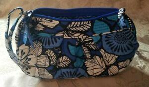 Vera Bradley small crossbody purse blue multicolor adjustable strap