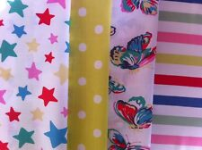 Cath Kidston 4 * 25cm square bundle butterflies stars paradise stripe spot new