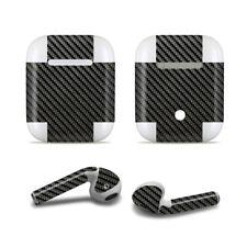 elperio Skin Sticker Aufkleber Carbon schwarz für Apple AirPods Kopfhörer earpod