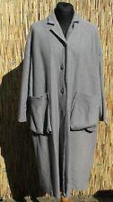 Grauer Mantel Solara mit Wolle + grossen Taschen von Nook...Gr EG =  46/48/50/52