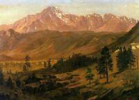 Albert Bierstadt Pikes Peak Fine Art Print on Canvas Home Decor Giclee Repro SM