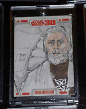 STAR WARS 30th ANNIVERARY RARE PUZZLE SKETCH CARD OBI-WAN BY JOHN WATKINS-CHOW