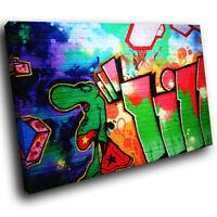 ZAB093 Green Urban Graffiti Modern Canvas Abstract Home Wall Art Picture Prints