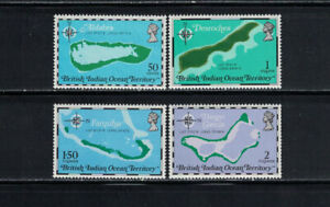 British Indian Ocean Territory 1975: #82-85 Island Maps:Lot#6/19