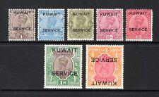 KUWAIT KGV 1929-33 sgO16 + sgO19 THROUGH TO sgO24 LIGHTLY MOUNTED MINT CAT £114