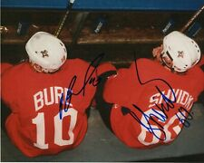 PAVEL BURE AND DENIS SHVIDKY SIGNED FLORIDA PANTHERS 8X10 PHOTO PROOF