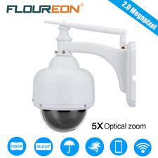 FLOUREON 1080P Wifi Wireless CCTV Security 4XZOOM PTZ Dome IP Camera Waterproof