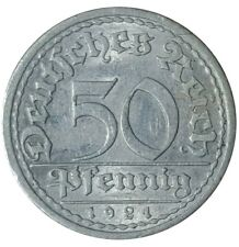 1921 Germany 50 Pfennig Coin KM#27