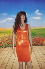 SMALL Metallic Burnt Orange Spandex Bodycon Tank Dress sexy fun clubwear