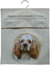 American Cocker Spaniel Natural Sturdy Cotton Canvas Peg Bag Useful Gift
