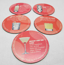 Lot of 5 Refrigerator Fridge Magnets Absolut Ruby Red Cocktail Recipes Drink