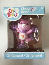 2008 Care Bears Pink Rainbow Ice Skating Cheer Bear Christmas Ornament NEW