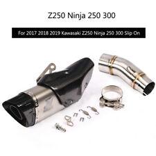 For 2017 2018 2019 Kawasaki Ninja 250 300 Exhaust Pipe Slip On 51mm Mid Tail Tip