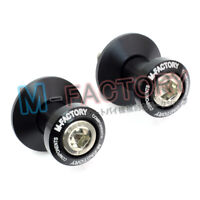 CNC BLACK 10mm Swingarm Spools Bobbins Fit Kawasaki Vulcan 650 S 15 16 17