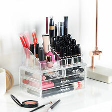 Beautify Acrylic Make Up Organiser Clear 4 Drawer Storage Cosmetic Beauty Case