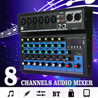8 Channel Professional Audio USB Live Studio Audio Mixer Music Stereo Console