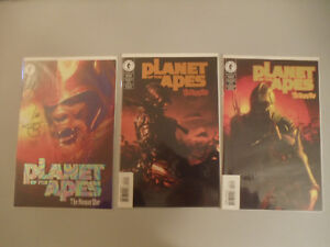Planet of the Apes #1-3 Human War Dark Horse Dynamic Forces variants signed foil