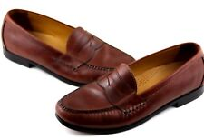 Cole Haan Mens Shoes 11 M NikeAir Penny Loafer Brown Leather Slip On