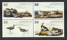 Canada 2005 ,Block of 4 Bird Paintings by J. J.Audubon SC# 2098a (2095/2098) MNH