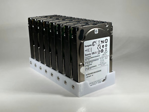 """8 Bay 2.5"""" 15mm Hard Drive Rack Holder Cage Case Caddy for Chia Farming"""
