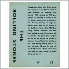 Rolling Stones 1964 Tower Ballroom New Brighton Concert Ticket (UK)