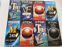 TDK HS VHS VIDEOCASSETTE USATE TV 120' 180' 240' LOTTO 10 PEZZI BUONE CONDIZIONI