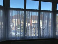KARA WHITE PRINCESS KATE RANGE VOILE NET CURTAINS DELICATE EMBROIDERED FLOWERS!